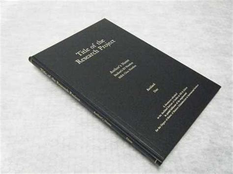 dissertation binding manchester library standard thesis bookbinding in black buckram