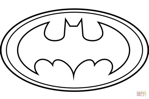 Coloring Pages Of The Batman Symbol | batman logo coloring page free printable coloring pages