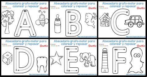 imagenes educativas para preescolar abecedario grafo motor para colorear y repasar imagenes