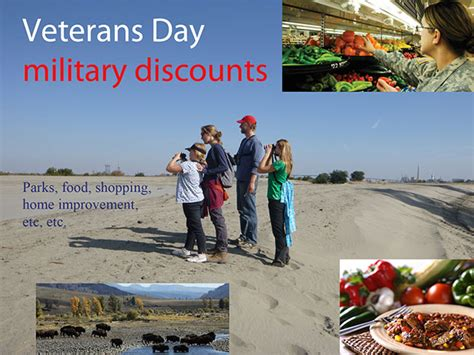 veterans day discounts or free meals to servicemembers and