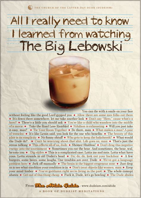 the dude quotes the big lebowski memorable quotes quotesgram