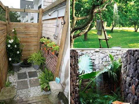 cool backyard projects 20 cool outdoor shower ideas for splashy experience