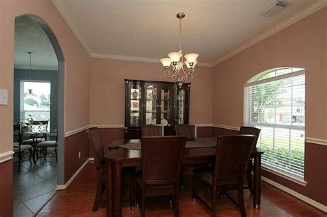 simple dining room two tone paint ideas home design and