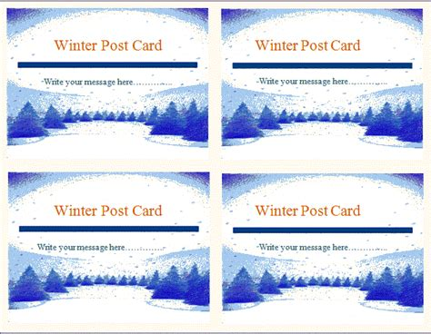 free postcard template microsoft word templates