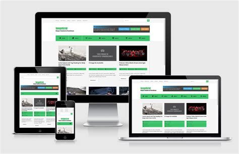 grid layout responsive template free responsive template versi grid dari template inspired
