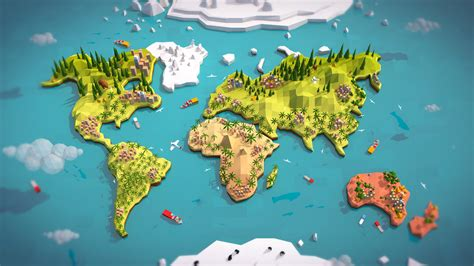 earth map 3d uvw ready simple 3d model turbosquid 1246166
