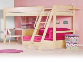 Bunk Beds With Underneath by Diy Loft Bed Plans With A Desk Related Post From