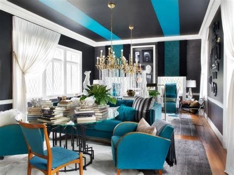 Black And Blue Living Room Ideas by Blue Black White And Gold Living Room Hgtv Design