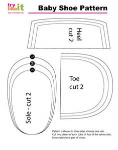 baby shoe pattern template reversible baby shoe tutorial and pattern try it