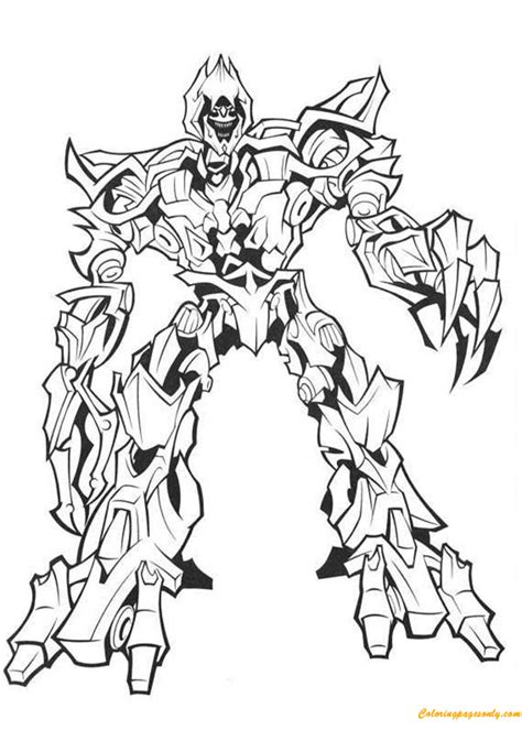 evil spiderman coloring page transformers megatron the evil master coloring page free