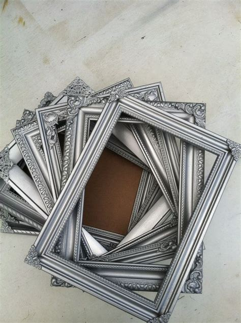 silver frames for wedding table numbers 12 best images about picture frames table numbers on