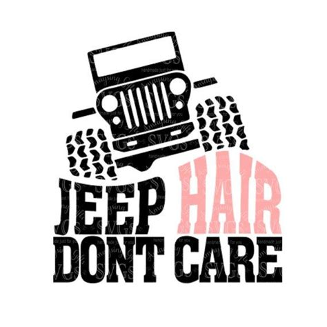 jeep silhouette svg jeep hair care dxf jeep hair design by