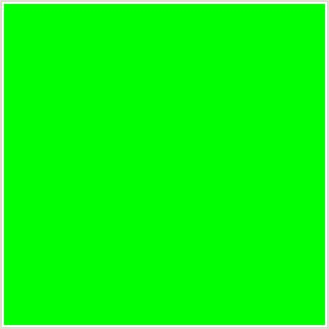 00ff00 hex color rgb 0 255 0 green