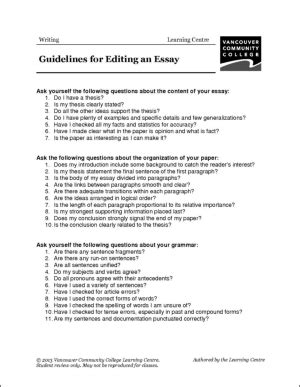 Guidelines For Essay Writing by Guidelines To Write An Essay