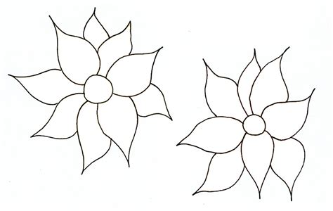 flower pattern for cut out family tree template resources
