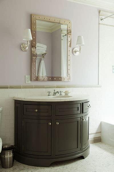 Half Bathroom Vanity Half Moon Vanity Traditional Bathroom Veranda