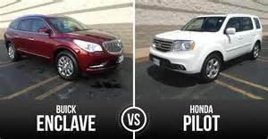 Buick Enclave Vs Honda Pilot Monday Vehicle Matchup Buick Enclave Vs Honda Pilot