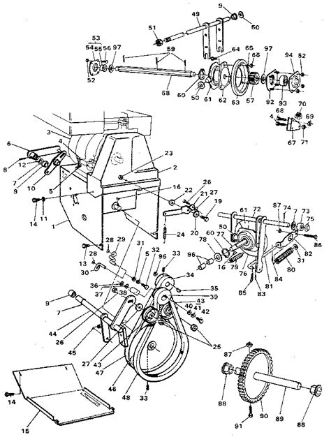 craftsman snowblower parts diagram craftsman 23 quot snow thrower motor mount assembly parts