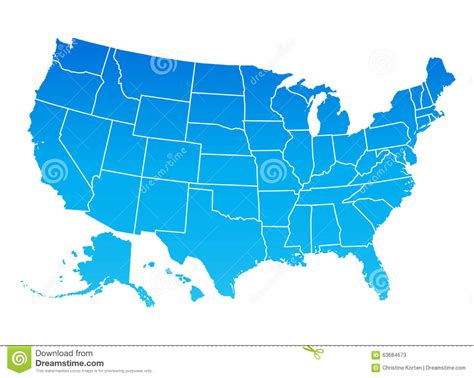us map blue map of the united states of america stock vector image
