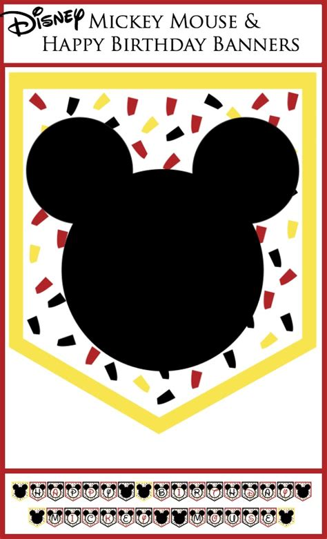printable mickey mouse birthday decorations disney party banners free printable banner printable