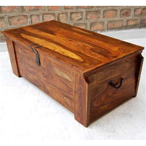 Handmade Wooden Chest - large solid wood storage box blanket chest trunk coffee
