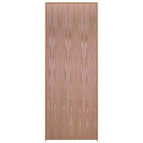 Masonite 18 In X 80 In Smooth Flush Hardwood Hollow Core Oak Veneer Interior Doors