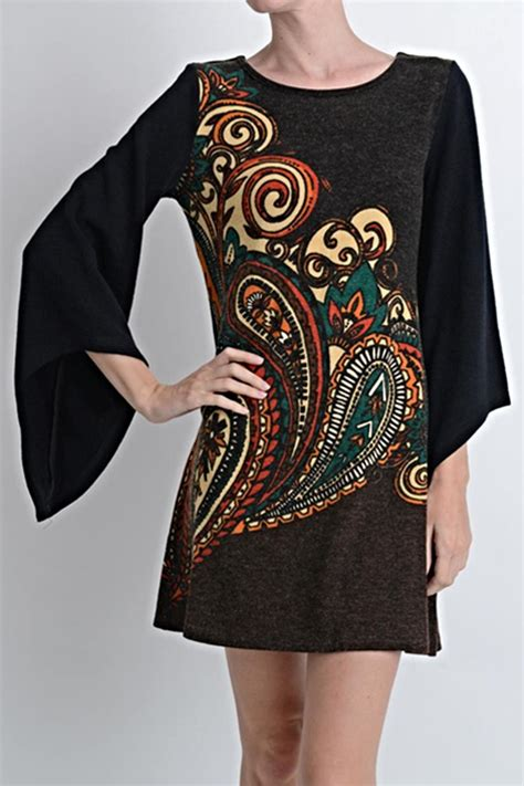 Paisley Pullover Dress Size Sml 1 aryeh paisley sweater dress from chicago by what she wants boutique shoptiques