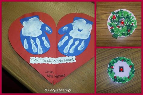 hands on crafts for christmas in the morning quot cold warm quot handprint craft preschool winter cold