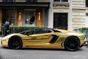 Gold Plated Lamborghini Gold Lamborghini Worth 163 4m Pictured In Could Be