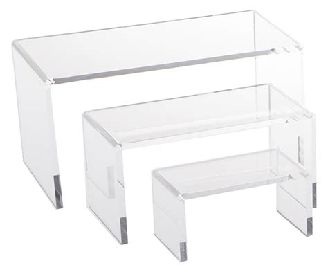Clear Acrylic Riser Sets   Includes (3) Platforms