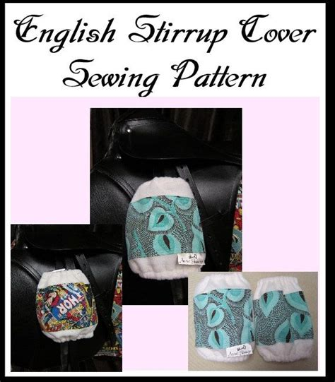 pattern english saddle cover english stirrup cover cozy style sewing pattern by