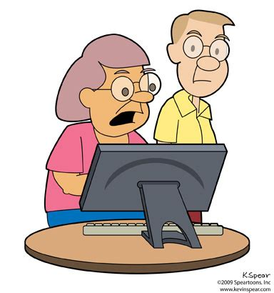 middle age couple on computer | the other day, i saw a