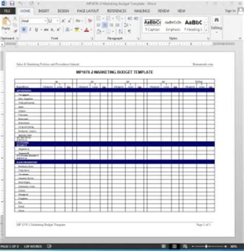 sales and marketing budget template marketing budget worksheet template