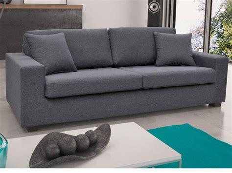 canapé 3 et 2 places canap 233 et fauteuil tissu gris caramel ou noir yudo