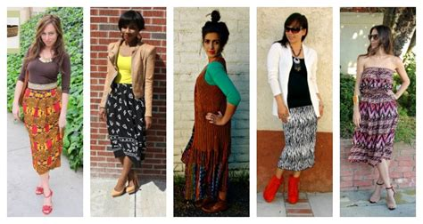 5 Ways To Go Skirting Around Fabulously by Tribal Midi Skirt Cable Car Couture