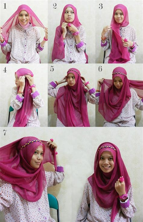 simple hijab tutorial for wedding 30 hijab styles step by step style arena