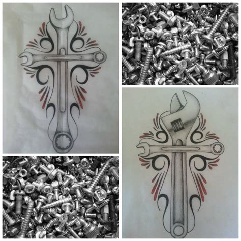 piston and wrench tattoo designs wrench cross designs by alib artwork on deviantart