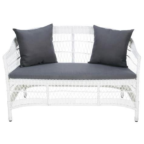 white garden bench seat white garden bench seat emily emily maisons du monde