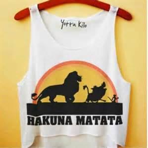 Spring Duvet Shirt Disney Disney Crop Tops Lion King Hakuna Matata