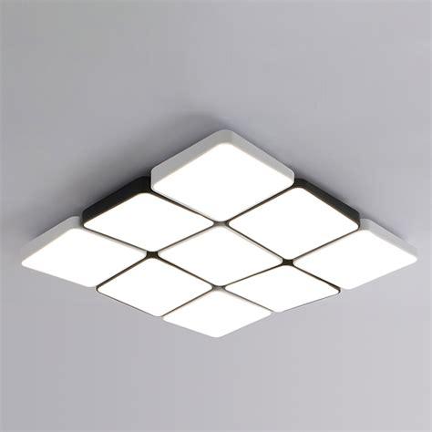 modern lighting splicing squares led flush mount for