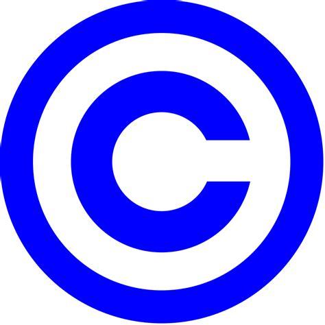 blue wiki file blue copyright svg