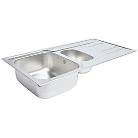 screwfix kitchen sinks kitchen sink drainer stainless steel 1 5 bowl 1000 x