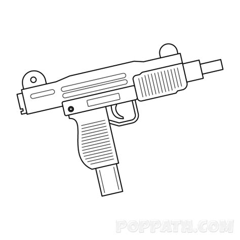 how to draw an uzi pop path