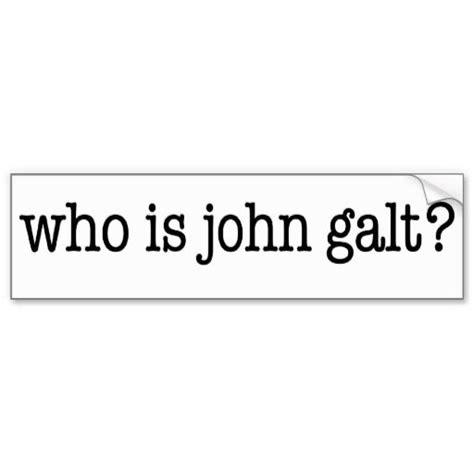 Who Is Galt Bumper Sticker