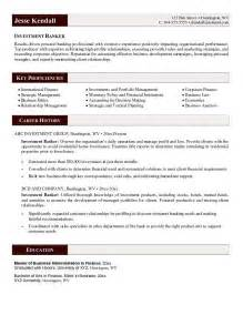 Investment Banking Resume Example Investment Banker Resume Example
