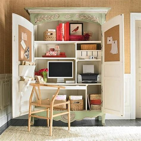 Small Desks For Home Office Small Home Office Cabinets Enhancing Space Saving Interior Design