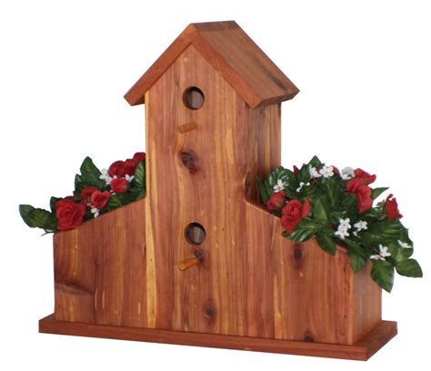Birdhouse Planters by Cedar Planter Birdhouse Woodworking