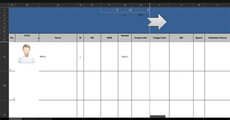 format buku induk format buku induk siswa dalam aplikasi excel terbaru mudah