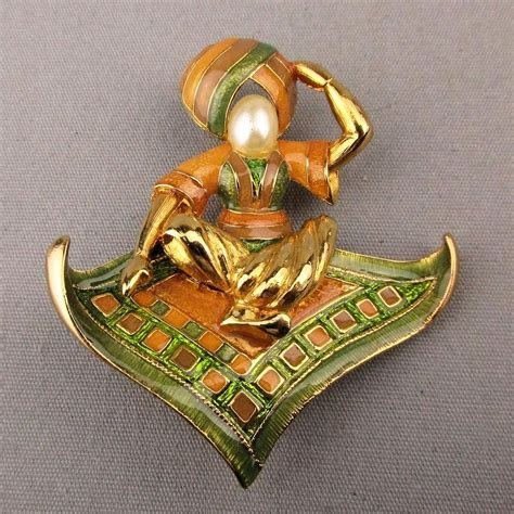 magic l pictures to pin vintage joan rivers enamel genie magic carpet pin