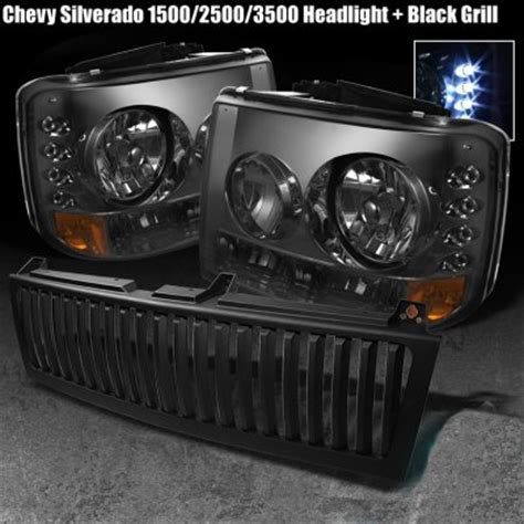 chevy silverado 1999 2002 black vertical grille and smoked
